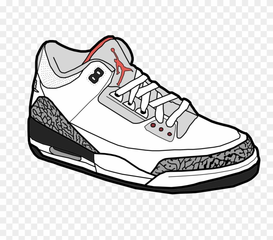 Black and white clipart jordan clip royalty free download Best Jordan Drawing Vector Images Stocks And - Cartoon Jordans Png ... clip royalty free download