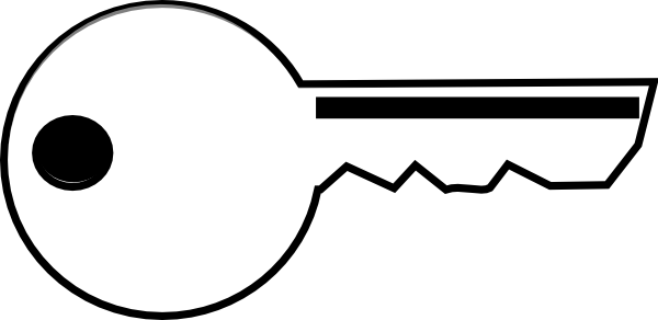 Key clipart outline banner royalty free library White Key Clip Art at Clker.com - vector clip art online, royalty ... banner royalty free library