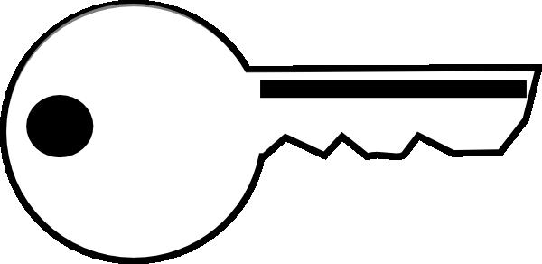 Black and white clipart keys