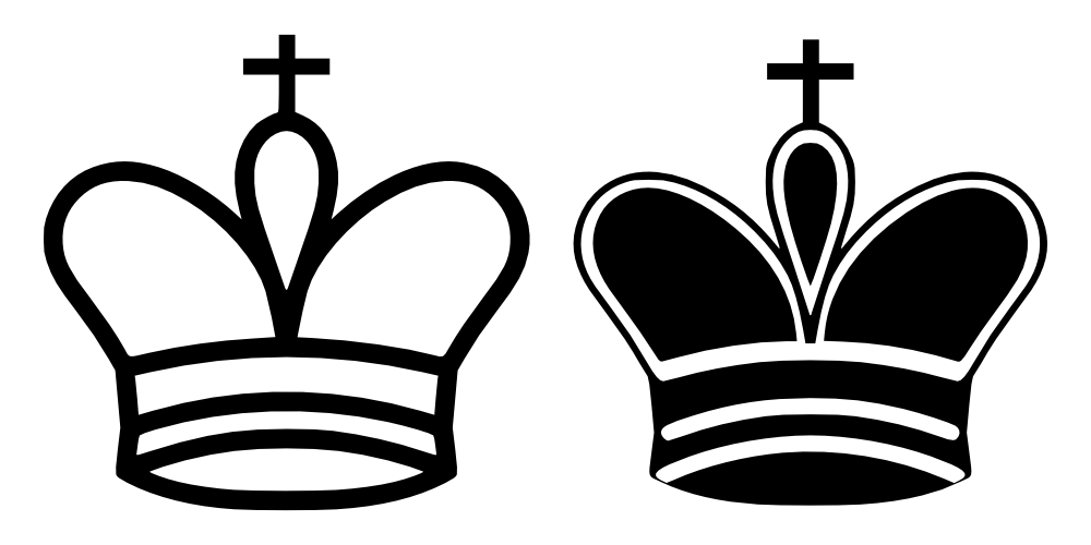Kings crown clipart black and white banner royalty free OnlineLabels Clip Art - Chess Tile - King banner royalty free