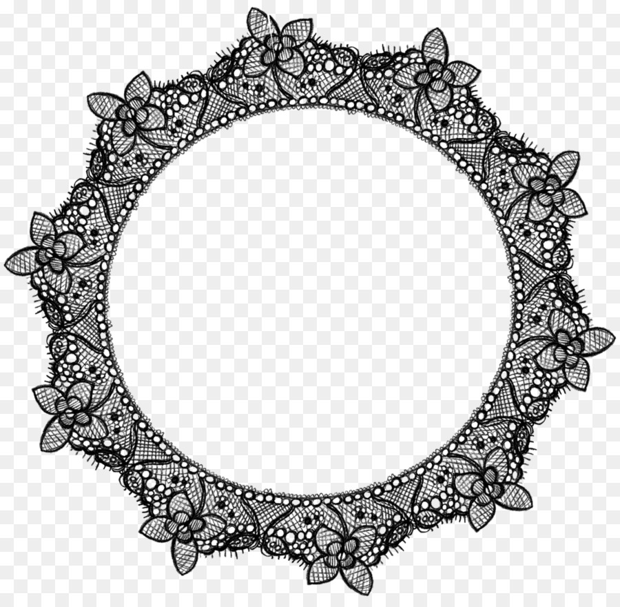 Black and white clipart lace jpg black and white Black And White Frame clipart - Lace, Circle, Product, transparent ... jpg black and white