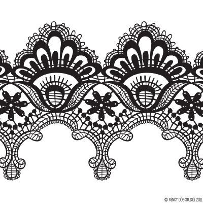 Black and white clipart lace png transparent stock Clip Art Digital Lace Borders Clipart Vector Lace Instant Download ... png transparent stock
