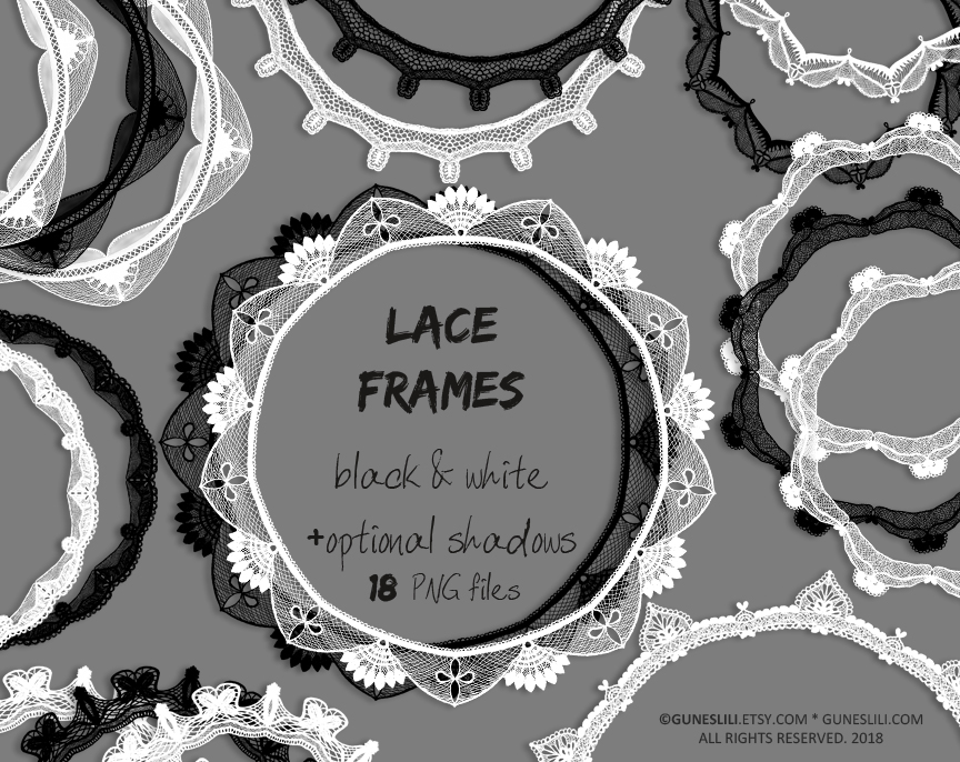 Black and white clipart lace image transparent Black and white lace overlay clipart -178 image transparent