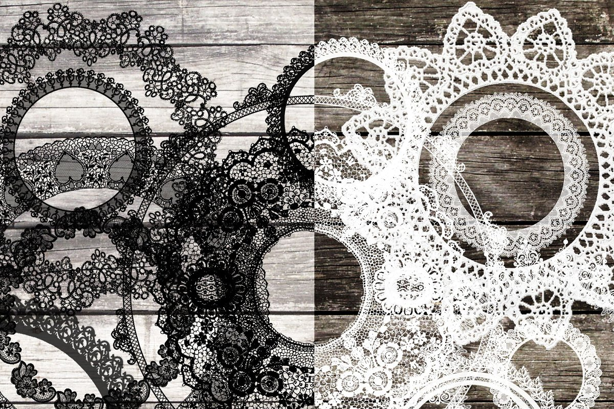 Black and white clipart lace vector royalty free 24 White & black lace clip art vector royalty free
