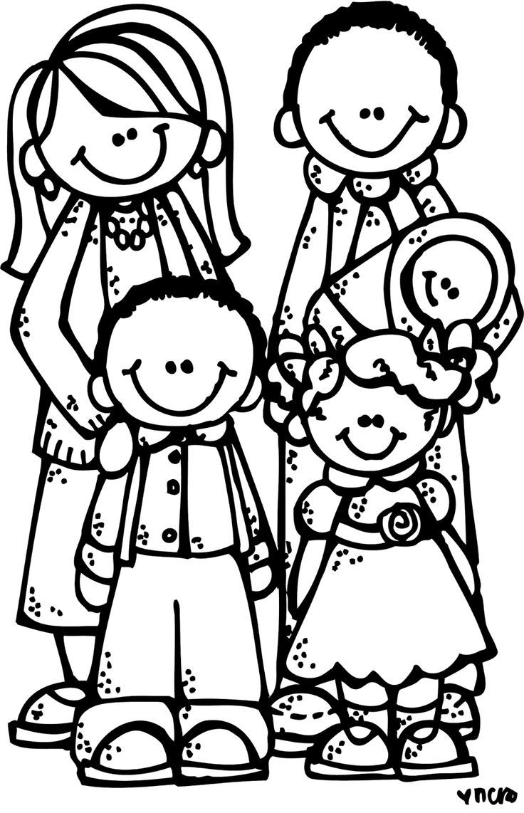 Black and white clipart lds children all around the world banner free familia | معلمة رياض اطفال | Clip art, Coloring pages for ... banner free