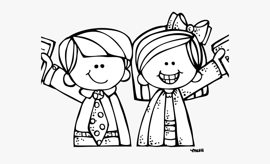 Black and white clipart lds children all around the world freeuse Lds Primary Clipart - Melonheadz Black And White #215553 ... freeuse
