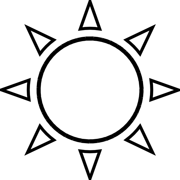 Rising sun free clipart black and white clip freeuse download simple sun drawing black and white - Google Search | Ink | Pinterest ... clip freeuse download