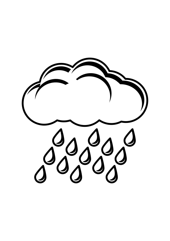 Sun and clouds clipart black and white clip freeuse Rain Clipart Black And White | Clipart Panda - Free Clipart Images clip freeuse