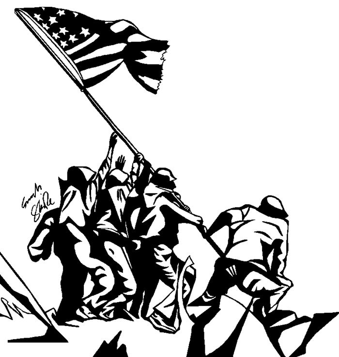 Veterans day thanks black and white clipart jpg royalty free download Free \