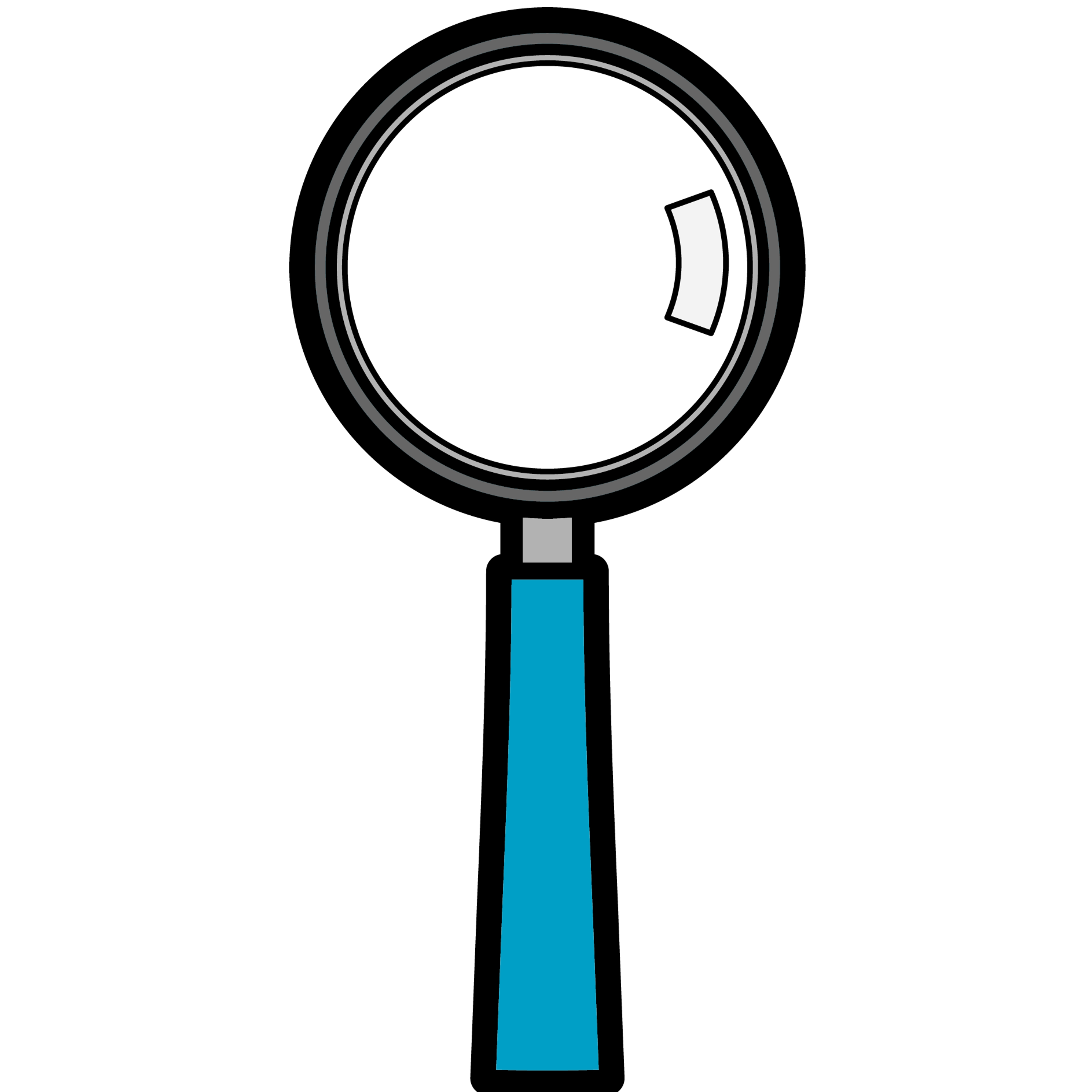 Black and white clipart magnifying reading graphic transparent Free Detective With Magnifying Glass Clipart, Download Free Clip Art ... graphic transparent