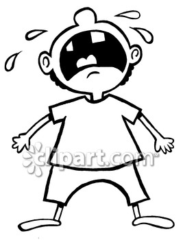 Child Crying Clipart Black And White picture black and white download