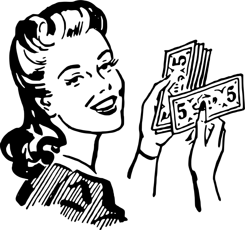 Clipart of money in black and white free library How to make money from your online course free library