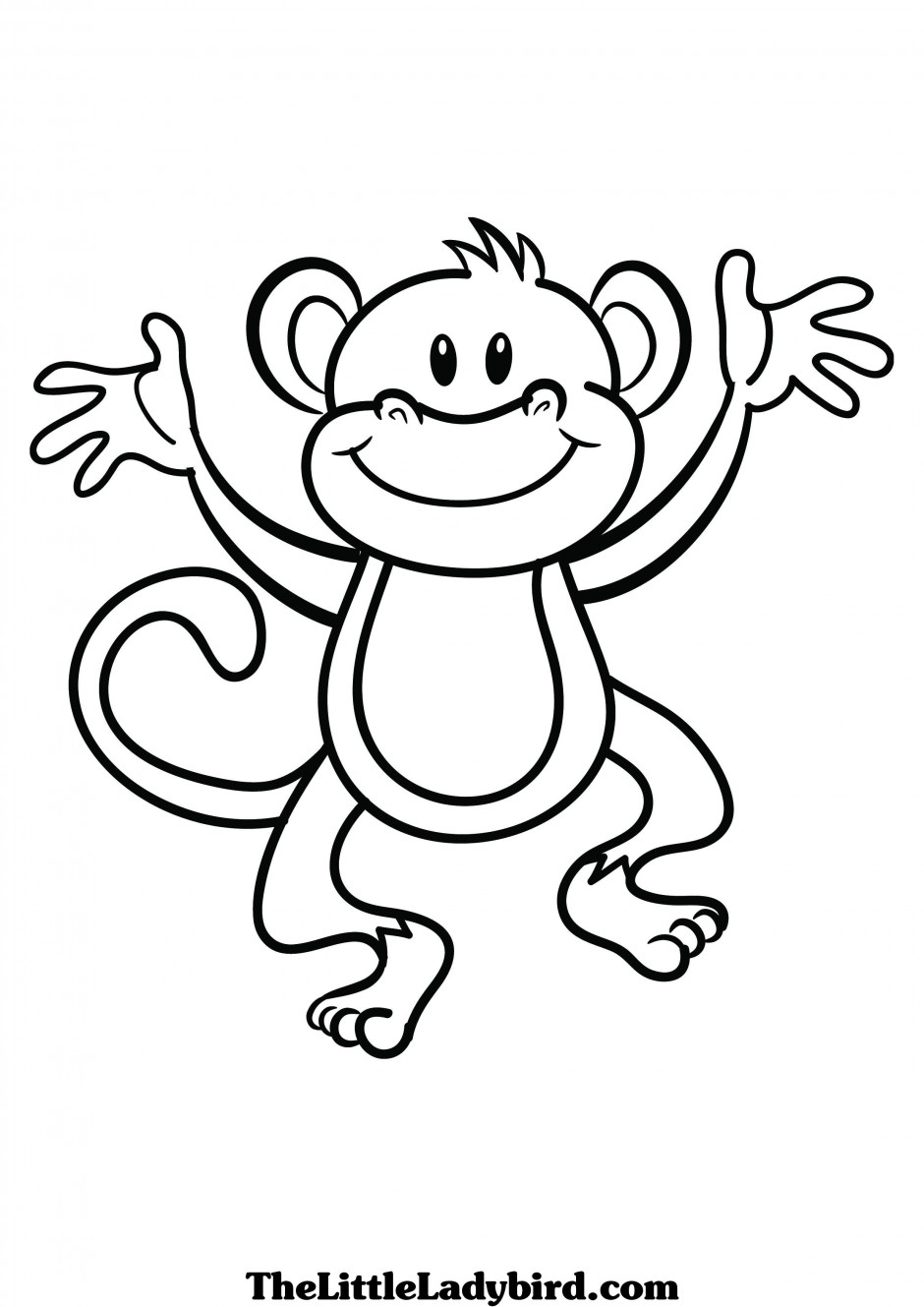 Black and white clipart monkey png royalty free Monkey black and white monkey clip art black and white free clipart ... png royalty free