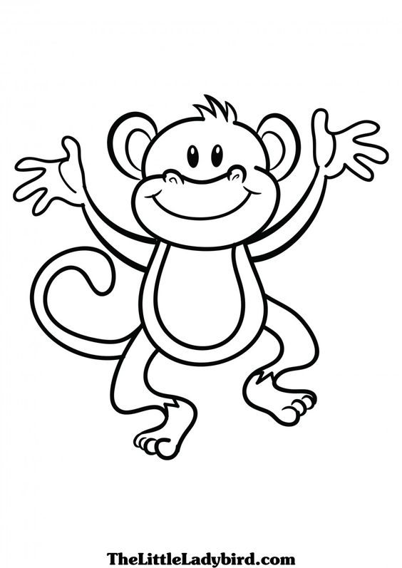 Black and white clipart monkey clip art library Monkey Clipart Black And White - 60 cliparts clip art library