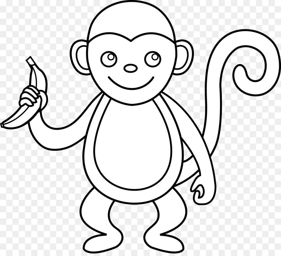 Black and white clipart monkey freeuse download Monkey Black And White Png & Free Monkey Black And White.png ... freeuse download