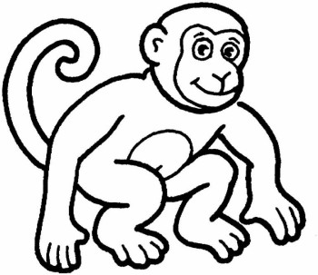 Black and white clipart monkey royalty free stock Monkey black and white clipart » Clipart Station royalty free stock