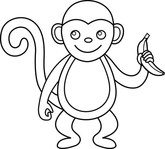 Black and white clipart monkey clip art royalty free download Monkey Clipart Black And White - 60 cliparts clip art royalty free download