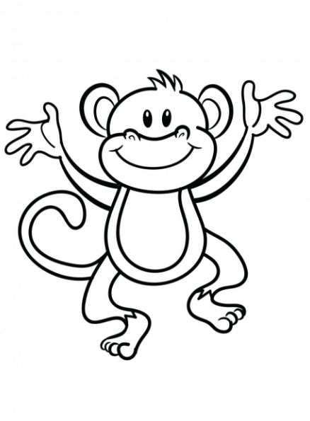 Black and white clipart monkey jpg library library Black And White Monkey Clipart | Free download best Black And White ... jpg library library