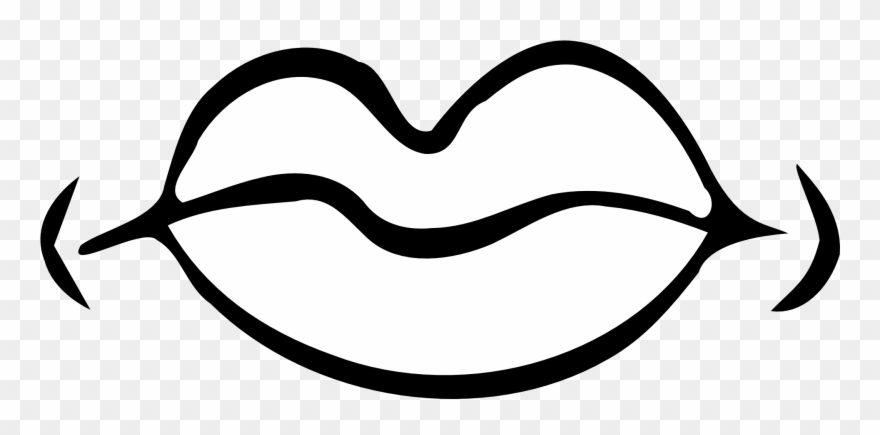 Black and white clipart mouth png free Gnu Clipart - Mouth Clip Art Black And White - Png Download (#357377 ... png free