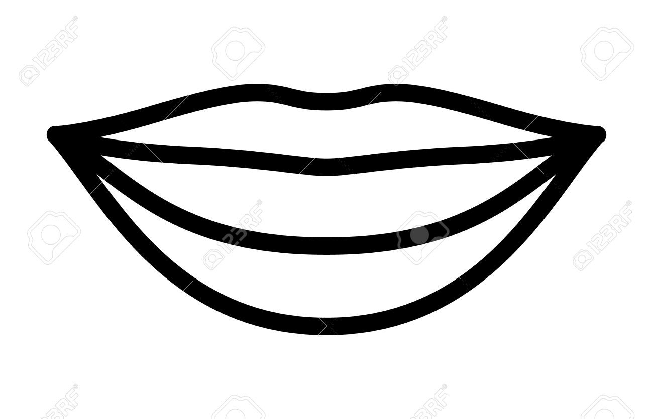 Black and white clipart mouth png free library Mouth And Tongue Clipart Black And White Cartoon Smiling Mouth Black ... png free library