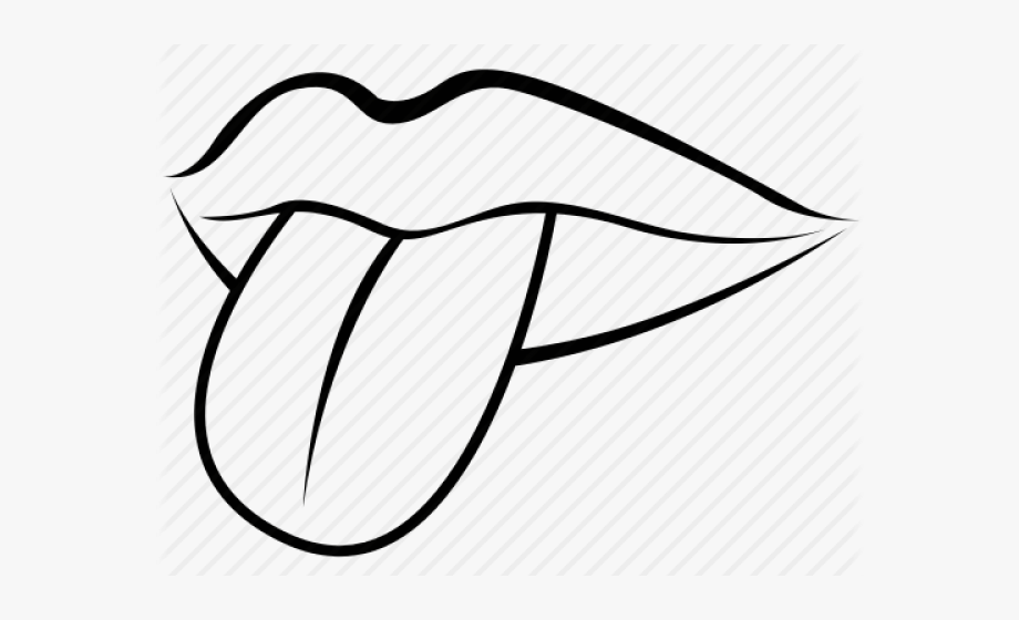 Black and white clipart mouth clip free library Drawn Tongue Clip Art - Lips Mouth Clipart Black And White #1761044 ... clip free library