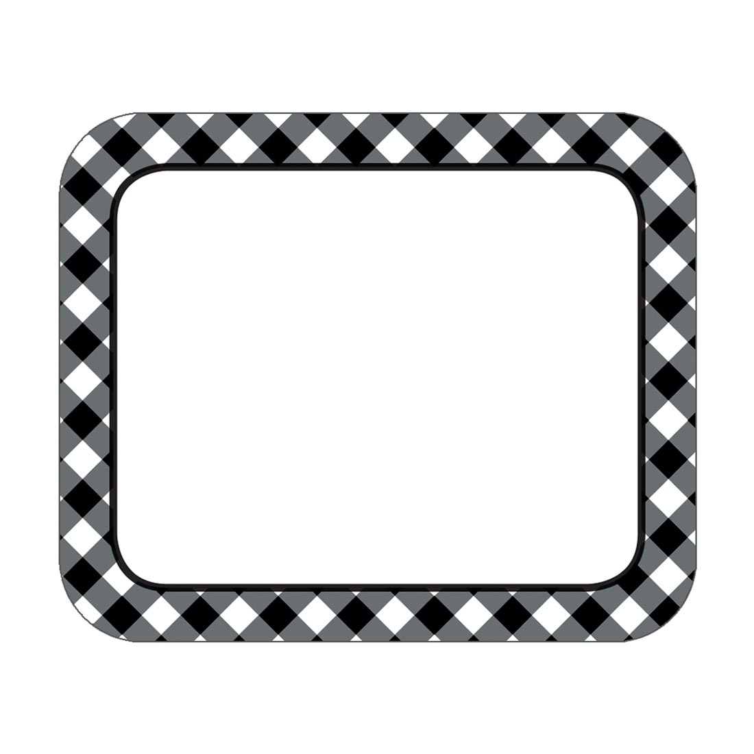 Black and white clipart nametag dan graphic Name Tags & Sticker Badges | United Art & Education graphic