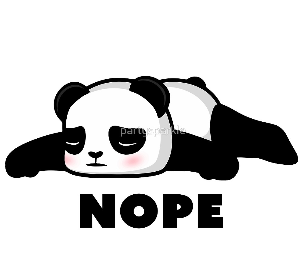 Black and white clipart nope clipart transparent stock NOPE - Depressed Panda\