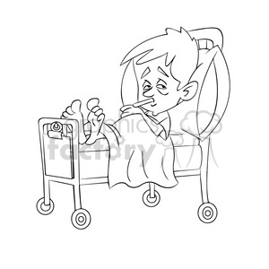 Black and white clipart of a child yawning picture free stock child sick in hospital bed black white clipart. Royalty-free clipart #  393508 picture free stock