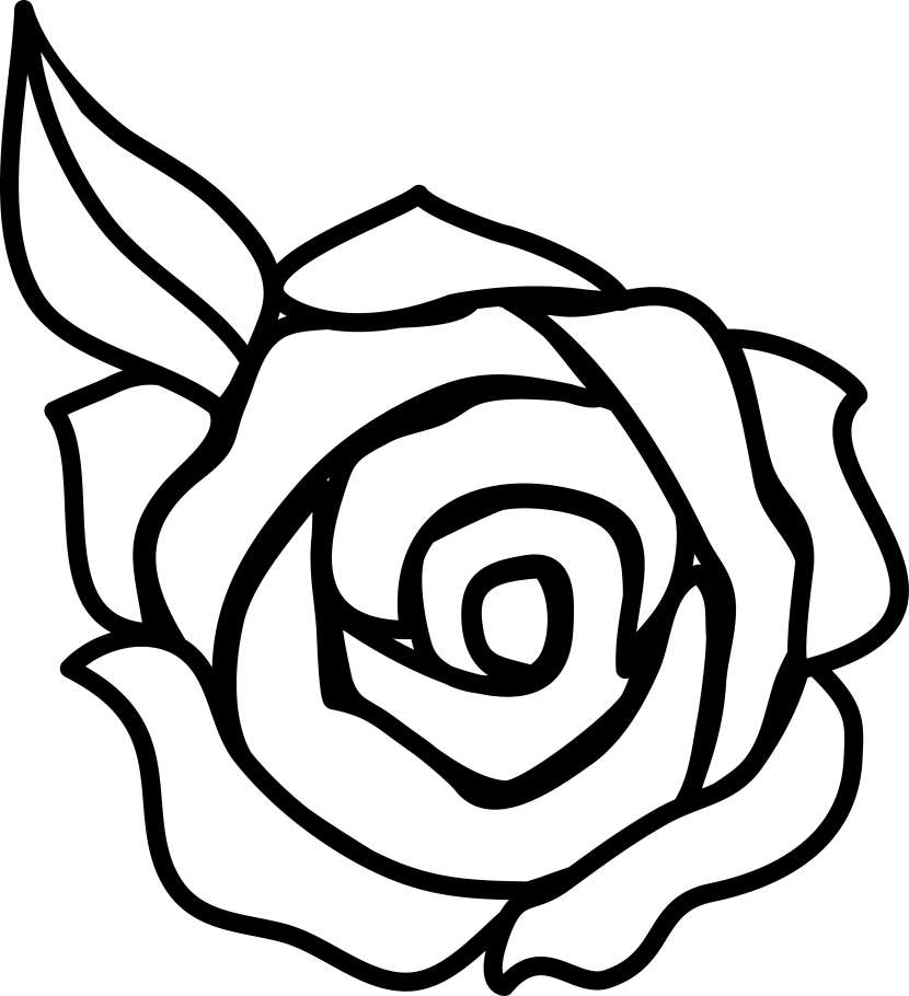 Black and white clipart of a flower picture library download Flower black and white rose flower clipart black and white #41807 ... picture library download