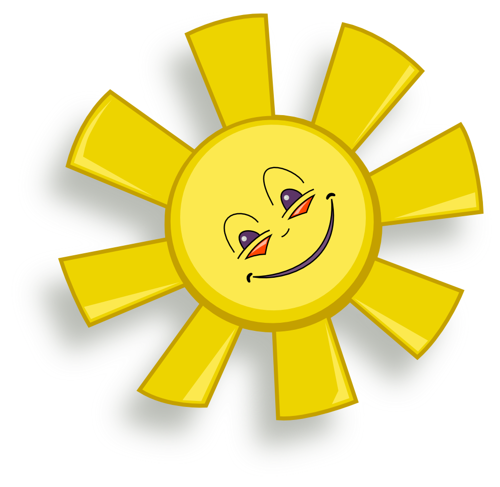 black and white clipart of a happy sun #20