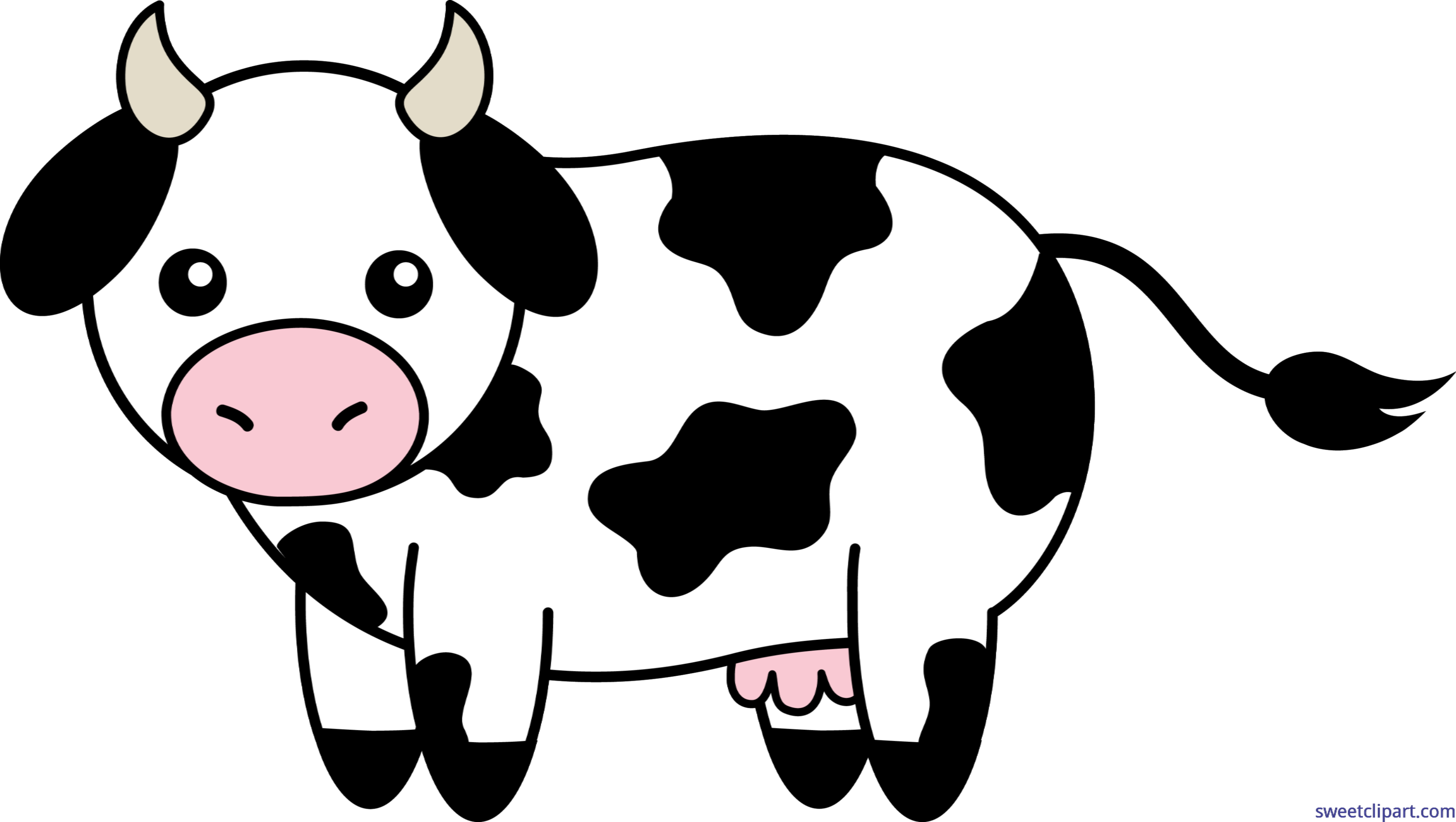 Black and white clipart of a happy sun banner transparent stock Cow Black White Clip Art - Sweet Clip Art banner transparent stock
