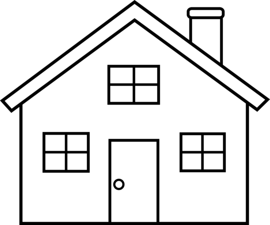 Black and white clipart of a home picture royalty free House black and white house outline clipart black and white free ... picture royalty free