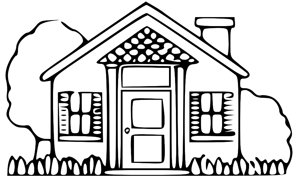 Black and white clipart of a home clipart black and white download 76+ House Black And White Clipart | ClipartLook clipart black and white download