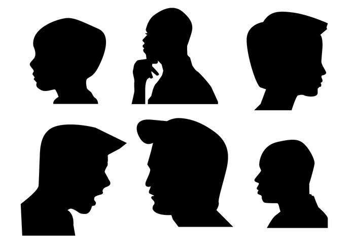 Black and white clipart of a little boy sideways graphic freeuse stock Boys Side Face silhouette Vector - Download Free Vector Art, Stock ... graphic freeuse stock