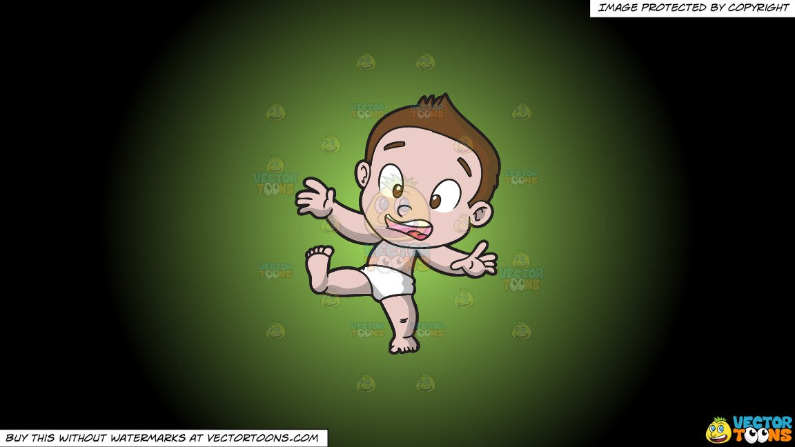 Black and white clipart of a little boy sideways svg black and white download Clipart: A Baby Boy About To Stumble on a Green And Black Gradient  Background svg black and white download