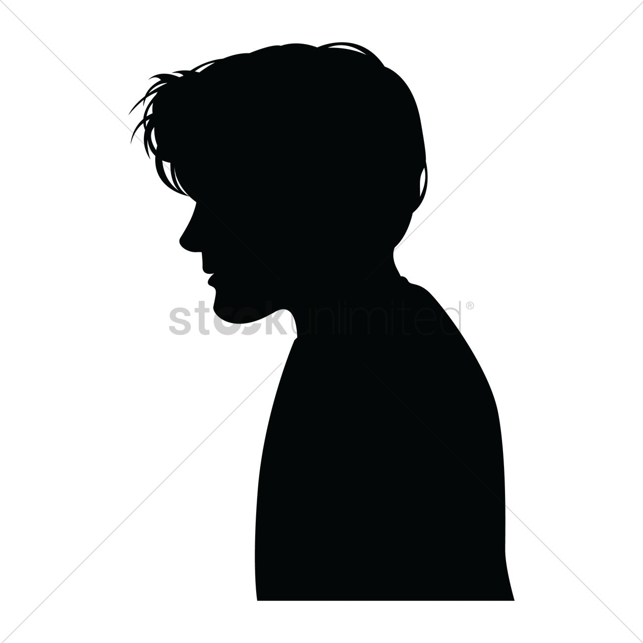 Black and white clipart of a little boy sideways picture freeuse library Boy Side View Png & Free Boy Side View.png Transparent Images #26183 ... picture freeuse library