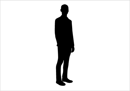 Black and white clipart of a person standing sideways black and white download Person Standing Sideways | Free download best Person Standing ... black and white download