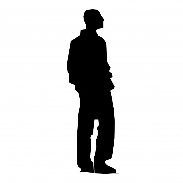 Black man clipart facing sideways