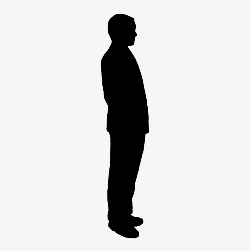 Black and white clipart of a person standing sideways png free Sideway Silhouette Of Man - Person Standing Sideways Silhouette ... png free