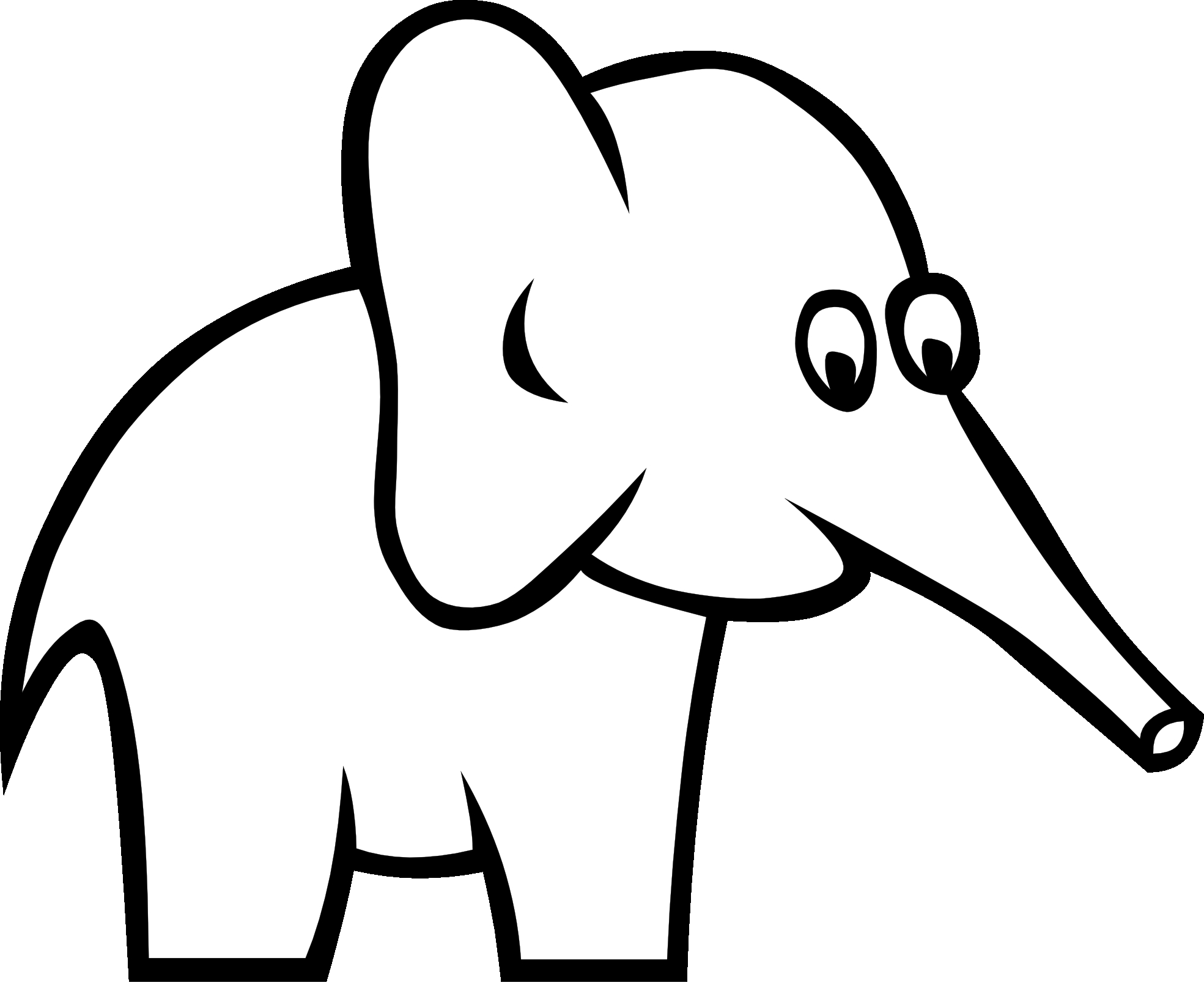 Black and white clipart of a scared elephant graphic freeuse library Elephant Clipart Black And White | Free download best Elephant ... graphic freeuse library