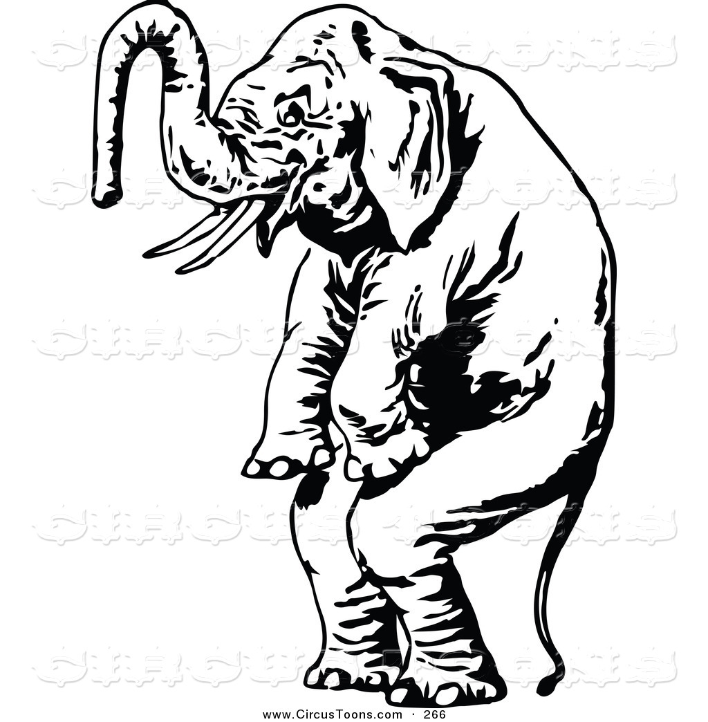 Black and white clipart of a scared elephant vector freeuse stock Elephant Clip Art Black And White | Clipart Panda - Free Clipart Images vector freeuse stock