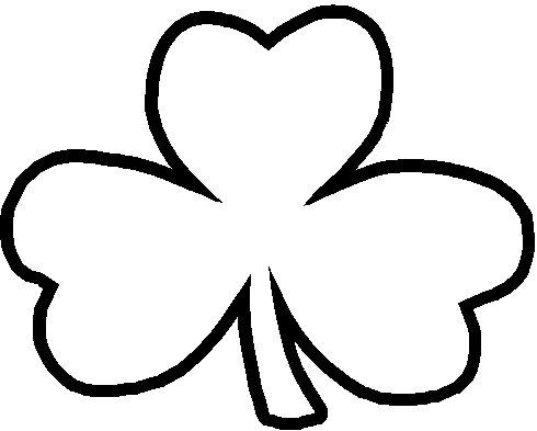 Free Shamrock Clip Art Black And White | Clipart Panda - Free ... vector free library