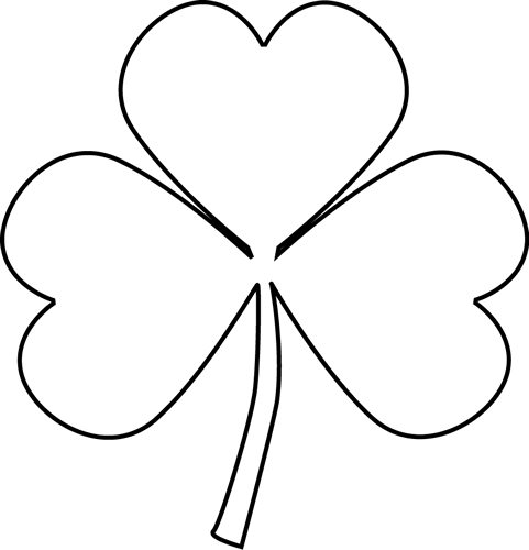Black and white clipart of a shamrock image free Free White Shamrock Cliparts, Download Free Clip Art, Free Clip Art ... image free