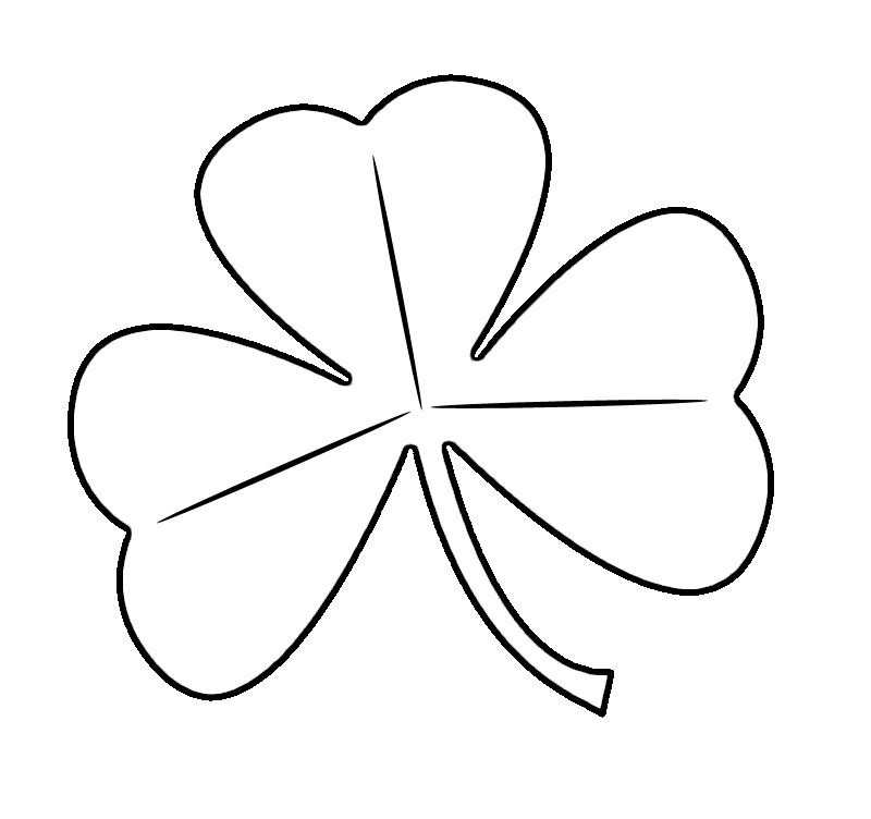 Black and white clipart of a shamrock jpg black and white Free St. Patrick\'s Day Shamrocks Clip Art Images | Crafty Stuff | St ... jpg black and white
