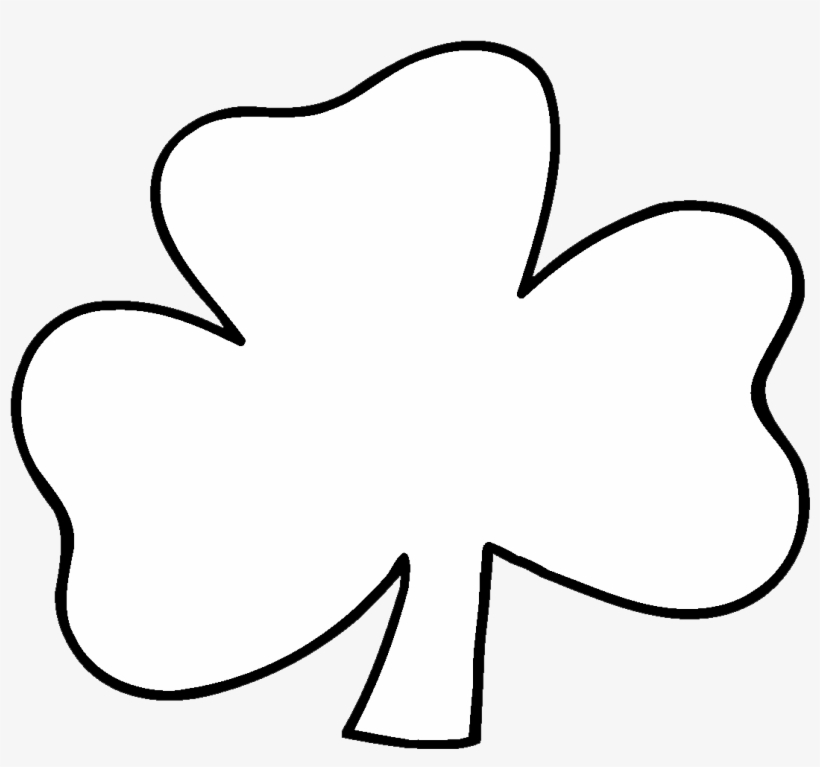 Black and white clipart of a shamrock svg transparent stock Irish Shamrock Clip Art Black And White X3cbx3eblackx3cx3e - White ... svg transparent stock