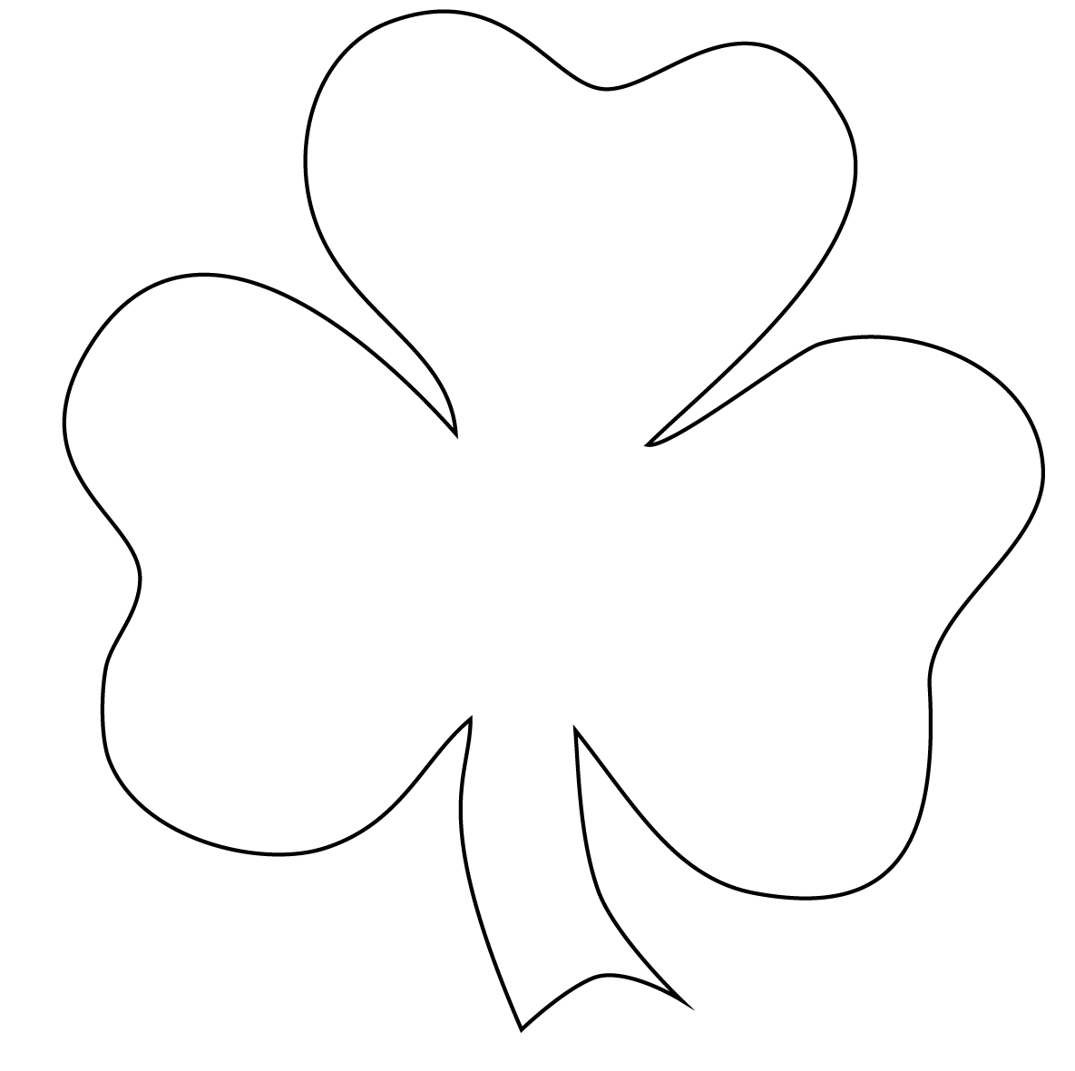 Black and white clipart of a shamrock svg black and white download Free Shamrock Clip Art Black And White | Clipart Panda - Free ... svg black and white download
