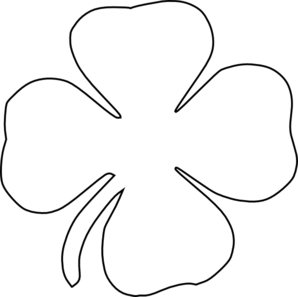 Black and white clipart of a shamrock image free library Free White Shamrock Cliparts, Download Free Clip Art, Free Clip Art ... image free library