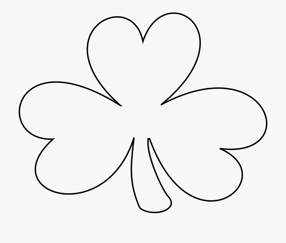 Four Leaf Clover Clipart Black And White - Black And White Clover ... image stock