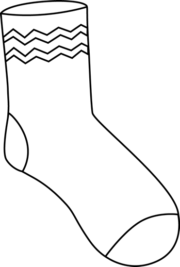 Black and white clipart of a sock png freeuse download Black and White Funky Sock | เครื่องแต่งกาย | Funky socks, Sock ... png freeuse download