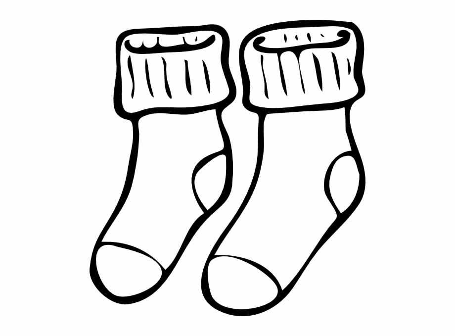 Black and white clipart of a sock vector free White Clipart Socks Socks Clipart Black And White - Clip Art Library vector free